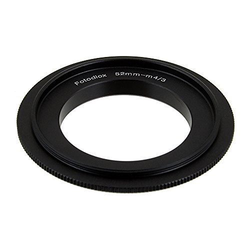 (Fotodiox 52mm Filter Thread Macro Reverse Mount Adapter Ring for Micro Four Thirds Cameras)