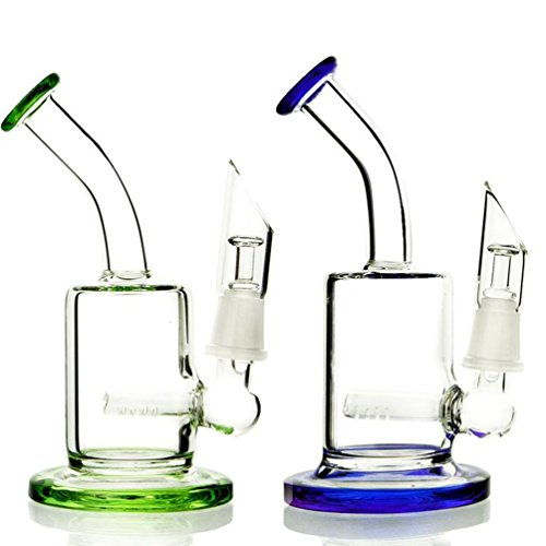 Green Bong Micro Glass Bong Mini Dab Rig Smoking Water Pipes