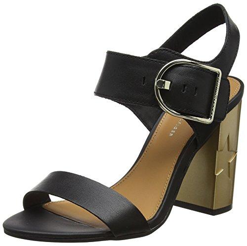Hilfiger Vrouwen Vrouwelijke Hiel Oversized Gesp Sandaaltjes Zwart (black 990)