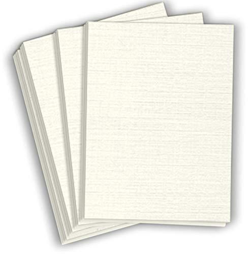 80 Lb Linen - Hamilco White Resume Linen Textured Cardstock Paper - 8 1/2 x 11
