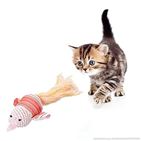 Amazon.com: Cat Toys - 2019 Lovely Cat Toys Pet Kitten Chew Plush Cartoon Animals Fish Cotton Rope Shape Bite Toy Gatos - Treat Active Spring Feather Track ...