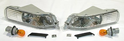 3000GT Crystal Clear Corners Lights Pair Gen1 1991-1993 - Crystal Clear Corner Lights