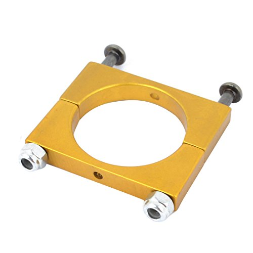 Aexit CNC Alloy Electrical equipment 22mm Tube Boom Mount Motor Clamp for DIY Quadcopter Yellow