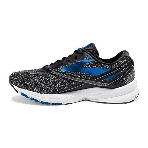 Les Hommes Brooks Lancer Quatre Chaussures De Course Noir / Bleu