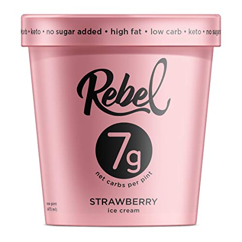 Rebel Ice Cream - Low Carb, Keto - Strawberry (8 Count)