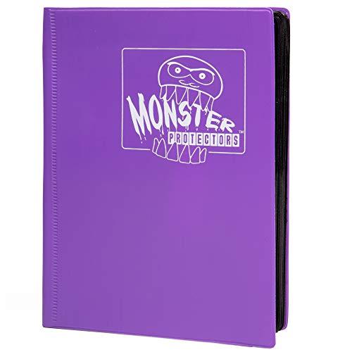 Monster Binder - 4 Pocket Matte Purple Album - Holds 160 Yugioh, Magic, and Pokemon ()