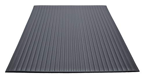 Guardian Air Step  Anti-Fatigue Floor Mat, Vinyl, 3'x5', Black, Reduces fatigue and discomfort, Can be easily cut to fit any space (Renewed)