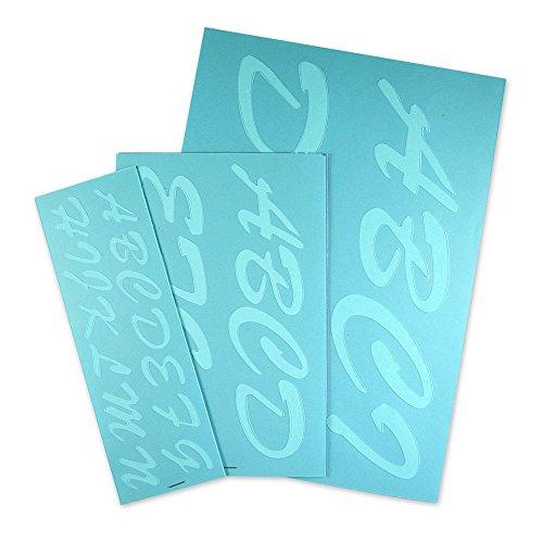Cosco Stencil Kit, Letters, Transparent Plastic Script 1-3 Inches (090310) by Cosco