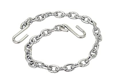 TOWKING One New 3//16 X 48 Grade 30 Trailer Safety Chain w// 2 S Hooks /& safety Latches 25001