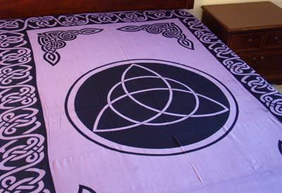 Purple Triquetra Tapestry – 72 x 108