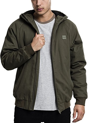 Giacca 551 Urban Jacket Classics Cotton dark olive Uomo Grün Hooded Zip wv6vacqyX