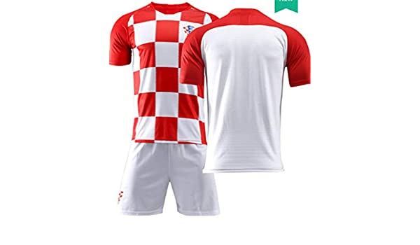 2b3a4072c61 LISIMKE Soccer Team 2018 19 Croatia Home Mens Replica Jersey Jersey Shorts  Kid Youth Replica Jersey Kit at Amazon Men s Clothing store