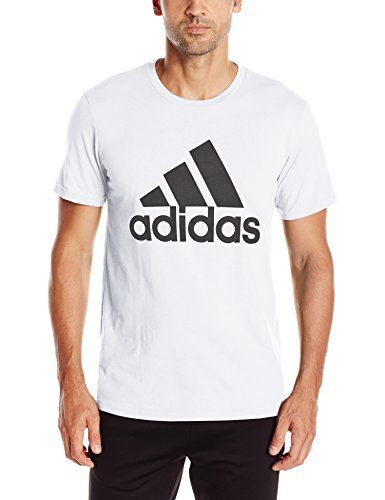 adidas Mens Badge of Sport Graphic Tee, White/Black, Medium