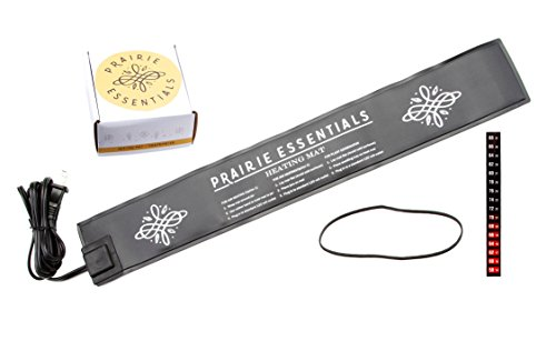 Prairie Essentials 3x20 Heating Pad & Thermometer for Kombucha, Fermentation, Beer & (Fancy Plant Mat)