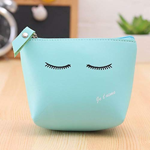 Engraving Western (New Women Girls Change Coin Purse Leather Zipper Wallet Key Holder Pouch Color (Color - Blue 002))