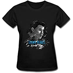 Lady Pop Shawn Mendes World Tour 2016 Poster T Shirt For Women