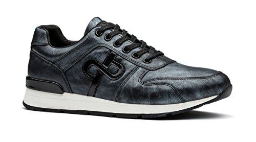 Herren Silber Sneakers Trainer OPP Leder MultiSport 1YfRdH