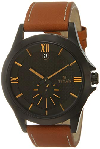 Titan Smartsteel Analog Black Dial Men's Watch NM9323NL02 / NL9323NL02
