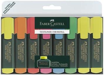 Faber-Castell Textliner 48 Refill - Subrayadores (8 unidades)multicolor: Amazon.es: Oficina y papelería