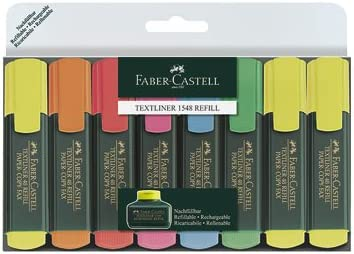 Faber-Castell Textliner 48 Refill - Subrayadores (8 unidades)multicolor
