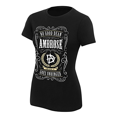 WWE Dean Ambrose No Good Dean Goes Unhinged Women's Authentic T-Shirt Black XL by WWE Authentic Wear