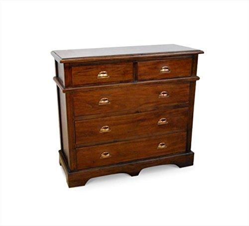 NES Furniture Fine Handcrafted Solid Teak Wood Haina Dresser, 39