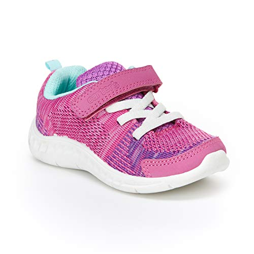 Carter's Girl's Athletic Sneakers, fuchsia, 8 M US Toddler (Size 8 Sneakers For Girls)
