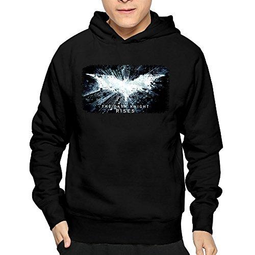 Bat Dark Attack Knight (Batman The Dark Knight Rises Man's Hoodie Sweatshirt)