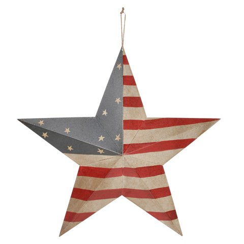 Bulk Buy: Darice DIY Crafts USA Flag Barn Star 24 inches (8-Pack) 6563-83