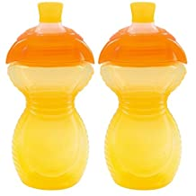 Munchkin Click Lock Bite Proof Sippy Cup, Yellow, 9 Ounce, 2 Count