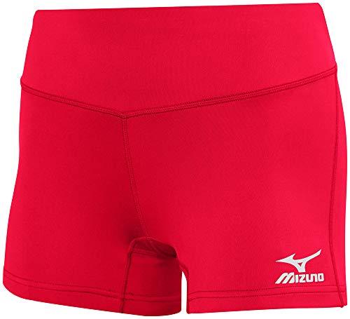 "Mizuno Victory 3.5"" Inseam Volleyball Short Red, Medium"