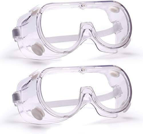 Clear Safety Goggles Glasses Anti Fog Wear Lens Work Lab Protective Chemical