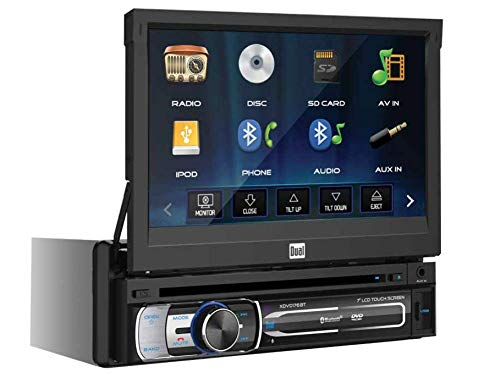 Dual Electronics XDVD176BT 7″ LED Backlit Touchscreen LCD Single DIN Car Stereo