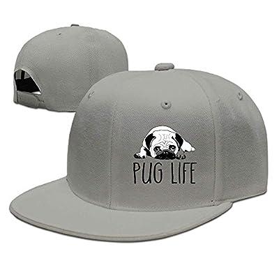 SunRuMo Cotton Pug Life Dog Drawing Unisex Snapback Baseball Caps by SunRuMo