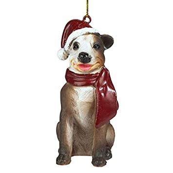 Pitbull Christmas Ornament.Design Toscano Christmas Ornaments Xmas Pitbull Holiday Dog Ornaments