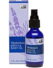 Motherlove Birth & Baby Oil (2oz) Lavender-Infused Oil for Perineal, Labor & Baby Massage—Gentle Moisturizer for Baby's Dry Skin & Scalp—Vegan, Non-GMO, Organic Herbs, Cruelty Free