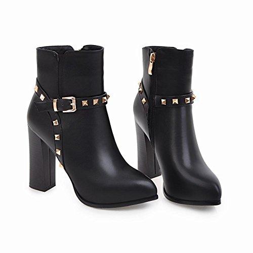Mee Shoes Damen high heels Reißverschluss Kurzstiefel Schwarz