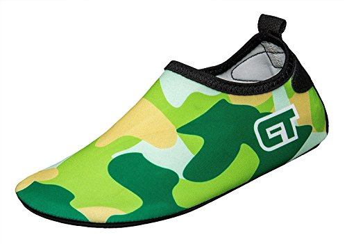 VarctikZ Kids Camouflaged Footwear (S, Green)