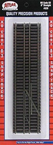 Atlas 520 HO Code 83 9'' Straight Section 6pcs