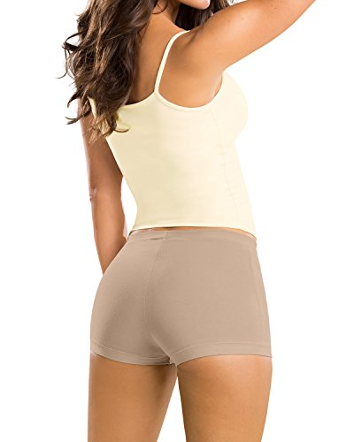 In Panties Boys (Simply Comfortable 3-Pack Boyshort Panty in Cotton- Leonisa Multicolored M)