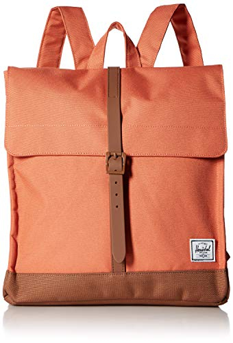 Herschel City Mid-Volume Backpack Apricot Brandy/Saddle Brown One Size