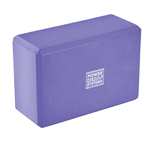 Power Systems Foam Yoga Block, 9 x 6 x 3 Inches, Purple, (83350)