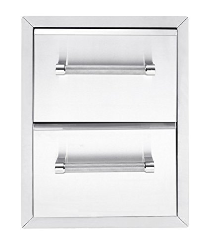 KitchenAid 780-0016 Built-in Grill Cabinet Drawer Storage, 18'', Stainless by KitchenAid