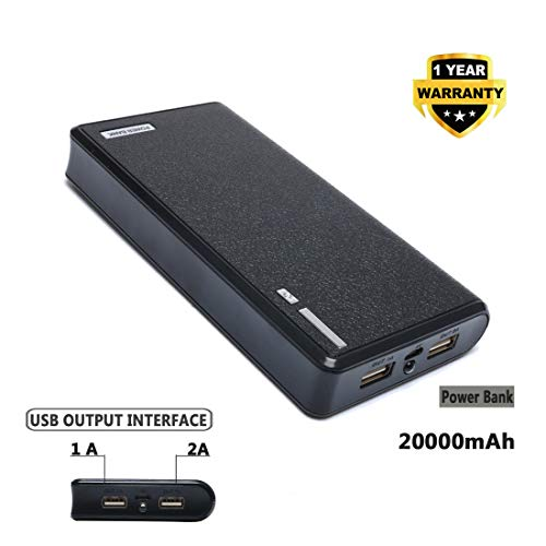 Bull High Capacity 20000mAh New Universal Power Bank/Portable Charger/Extended Battery with LCD Display and LED Light for Laptops,Netbook,Cell Phones, iPhone,Tablets,MP3,Cameras,Gopro (Black)
