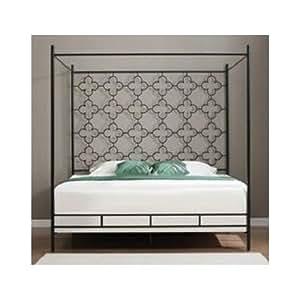 queen metal canopy bed frame embellished black kitchen dining. Black Bedroom Furniture Sets. Home Design Ideas