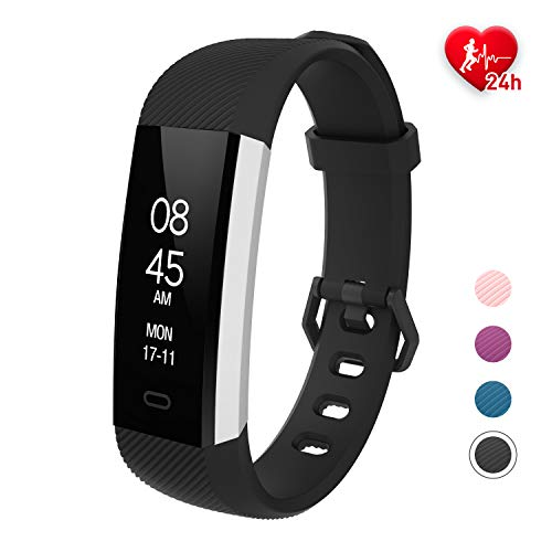 Fitness Activity Tracker Women Waterproof with Heart Rate Sleep Step Pedometer Monitor Workout Running Calorie Counter Smart Sports Watch for Kids Men