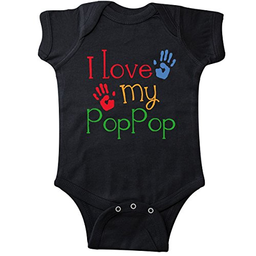 inktastic - Poppop Grandkids Handprints Infant Creeper Newborn Black 10cfa
