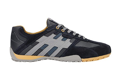Geox Men Uomo Snake K Low-Top Sneakers Blue (Navy/Ochreyellow C0916) footaction cheap price outlet store outlet locations sale online Hmhpf