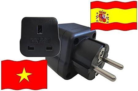 Adaptador de Viaje para España y Vietnam ES/VN Enchufe de Viaje ...