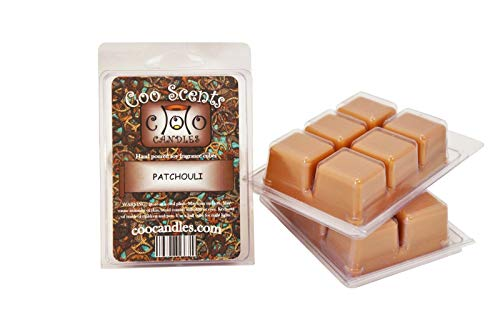 Coo Candles 3 Pack Soy Wickless Candle Bar Wax Melts - Patchouli ()